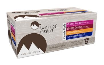Twin Ridge Roasters 96ct Variety Pack Single Serve Coffee