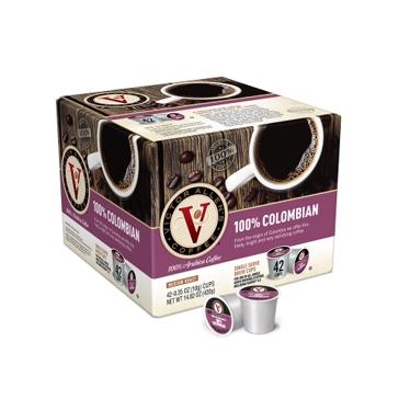 Victor Allen 42 K-Cups Colombian Single Serve Coffee
