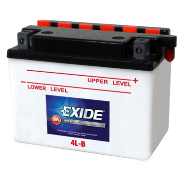 Exide Supercrank High Performance Motorcyle Battery 4L-B