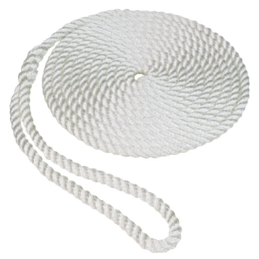 "SeaSense 1/2""x20' White Twisted Dockline 3 Strand 50013010"