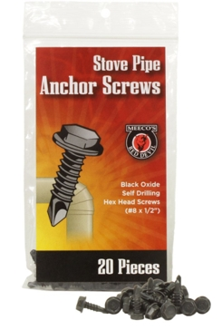 Meeco Stove Pipe Anchor Screws - 20 pk
