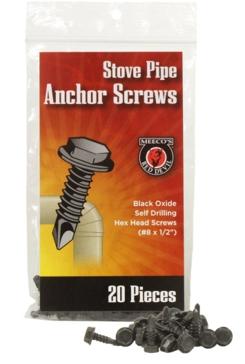 Meeco Stove Pipe Anchor Screws - 20 pk