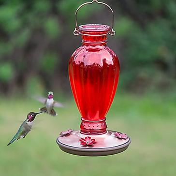 Perky-Pet® Daisy Vase Vintage Hummingbird Feeder - 18 oz Nectar Capacity