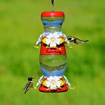 Perky-Pet Double Decker Plastic Hummingbird Feeder - 26 oz Nectar Capacity
