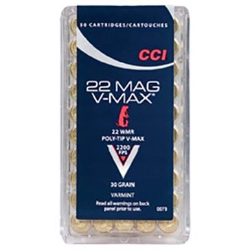CCI Varmint Ammunition - 22 Win Mag V-Max