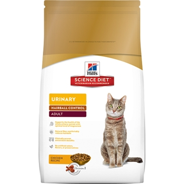 Hill's Science Diet Adult Urinary Hairball Control Dry Cat Food 3.5lb