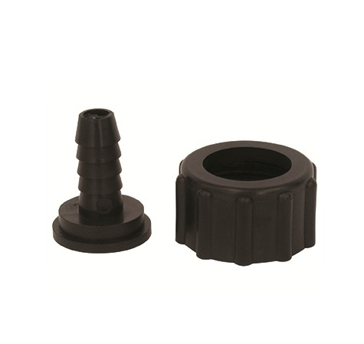 "Poly Swivel 3/8"" Barb & Nuts"