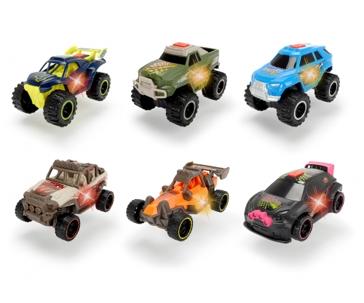 "Dickie Toys 4"" Joyrider Lights & Sounds Racing Cars - Assorted"