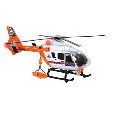 Dickie Toys Light and Sound SOS Rescue Helicopter with Moving Rotor Blades