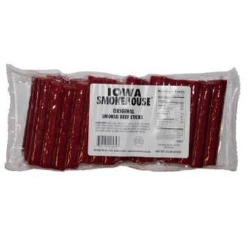 Iowa Smokehouse Smoked Beef Sticks Original - 2 lbs. (Original)
