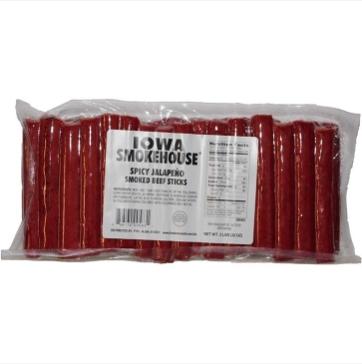 Iowa Smokehouse Smoked Beef Sticks Original - 2 lbs. (Spicy Jalapeno)