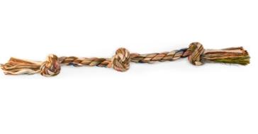Scott Pet 3-Knot Rope Bone Tug Toy