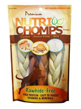 "Nutri Chomps 6"" Assorted Flavor Braid 4 Ct."