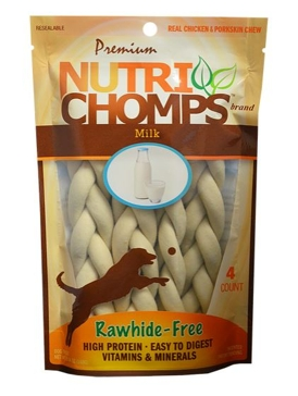 "Nutri Chomps 6"" Milk Flavor Braid 4 Ct."