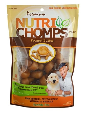 Nutri Chomp Peanut Butter Mini Knots 8 Ct.