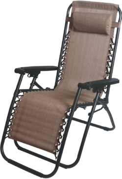 Backyard Expressions Anti-Gravity Lounge Chair- Gray