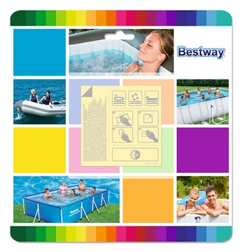 Bestway Underwater Adhesive Repair Patch 10-Pack 62091E
