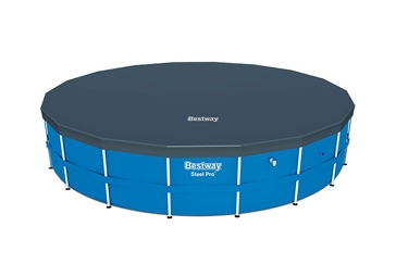 Bestway 18' PVC Round Steel Frame Swimming Pool Cover 58039E