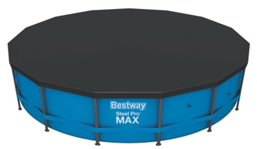 Bestway 15' PVC Pool Cover for Round Steel Frames 58038E