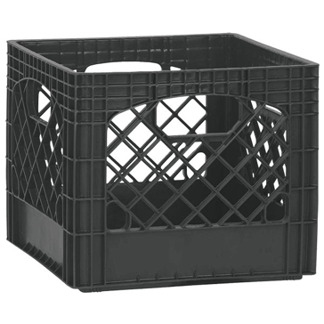 Heavy Duty Storage Crate Black