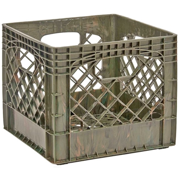 Heavy Duty Storage Crate Green Camo