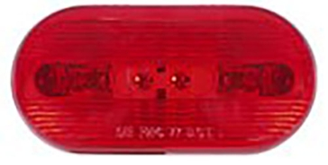 Optronics Surface Mount Dual Bulb Marker Red Light PC Rated MC66RS