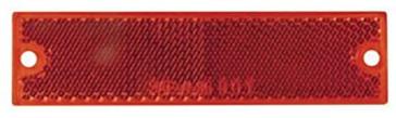 Optronics Thinline Self Adhesive/Screw Mount Red Reflectors RE15RK