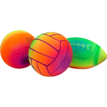 Drybranch/Sport Design Neon Rainbow Balls Asst Ages 3+