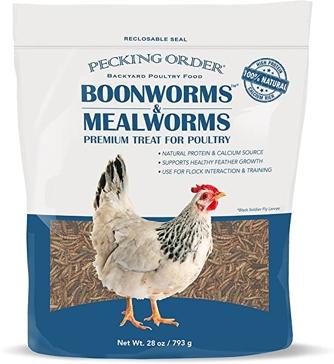 Pecking Order Boonworms Bag 32oz Chicken Treats