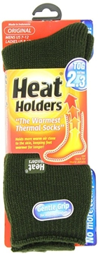 Heat Holders Mens Forest Green Thermal Socks - Size 7-12