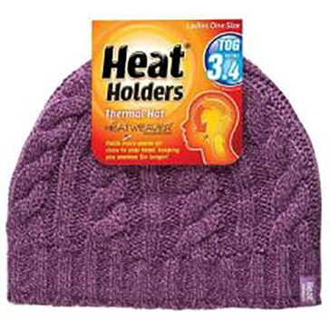 Heat Holders Mens Thermal Hat - Purple