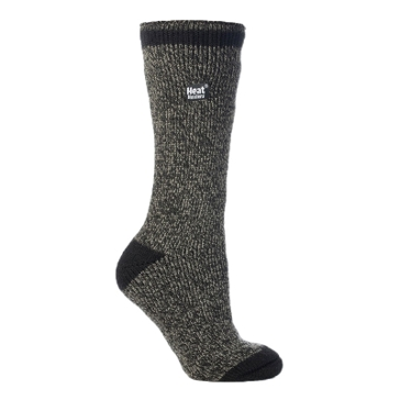 Heat Holders Mens Black Twist Thermal Socks - Size 7-12