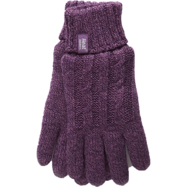 Heat Holders Womens Purple Thermal Gloves - L/XL