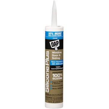 Dap 100% Silicone Clear Window & Door Sealant