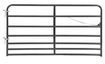 "Applegate 16ft 1-3/4"" 7 Rail Gunmetal Gray Gate"