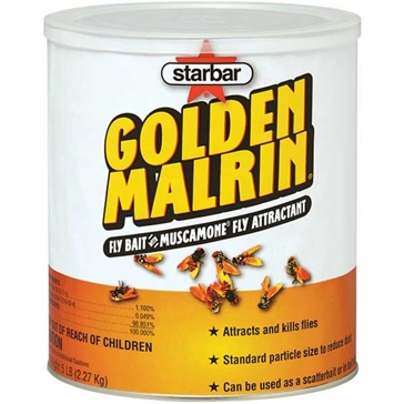 Starbar Golden Malrin Fly Bait 5lb Insecticide