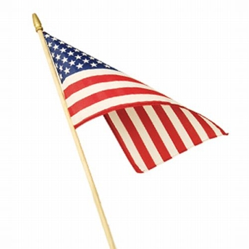 Valley Forge 4x6-inch Stick American Flag