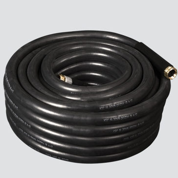 "Apache 5/8"" x 75' Heavy-Duty Industrial Rubber Water Hose Assembly"