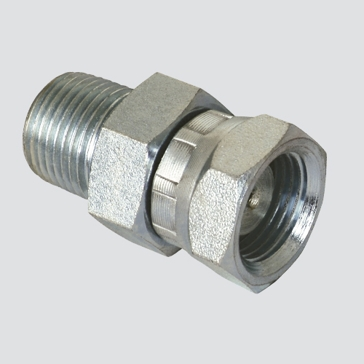 "Apache 3/8"" Male Pipe Thread x 3/8"" Female Pipe Thread Swivel with 1/32"" Restrictor Hydraulic Adapter"