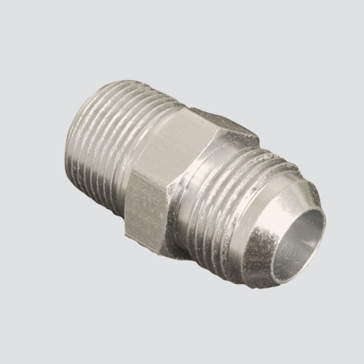 "Apache Style 2404 1/4"" Male JIC x 1/4"" Male Pipe Thread Hydraulic Adapter"