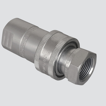 "Apache 1/2"" Female Pipe Thread x 1/2"" Body One-Way Sleeve Hydraulic Quick Disconnect (S20-4P)"