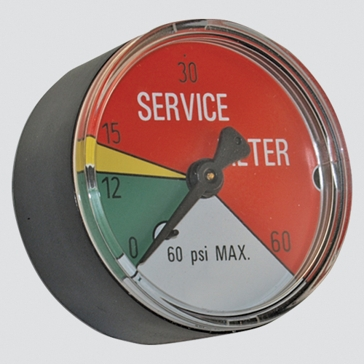"Apache 2"" 25 PSI Hydraulic Filter Service Indicator Gauge"