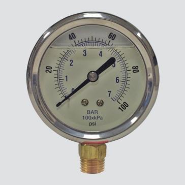 "Apache 2-1/2"" 5000 PSI Glycerine Filled Pressure Gauge"