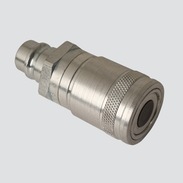 "Apache 1/2"" Flat Face Male Tip x 1/2"" Flat Face Female Coupler Quick Disconnect Skid Steer Coupler (FAE49-56-4)"