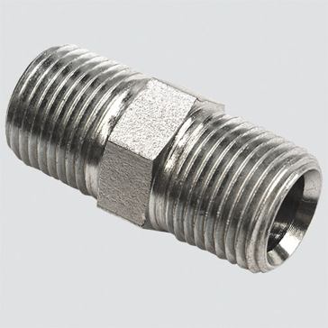 "Apache Style 5404 3/8"" Male Pipe Thread x 1/4"" Male Pipe Thread Hydraulic Adapter"