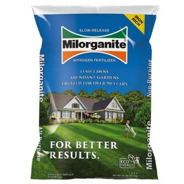 Milorganite 32lb Slow-Release Organic Nitrogen Lawn Fertilizer