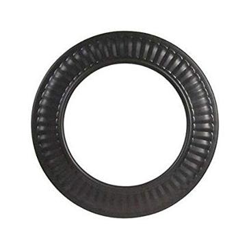 "Gray Metal 24ga Black 6"" Stovepipe Collar"