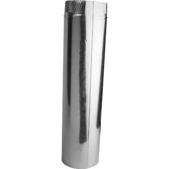 "Gray Metal 3"" x 24"" 30ga Galvanized Vent Pipe"