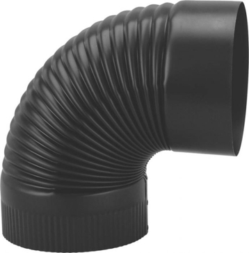"Gray Metal 8"" Black Stovepipe Elbow"