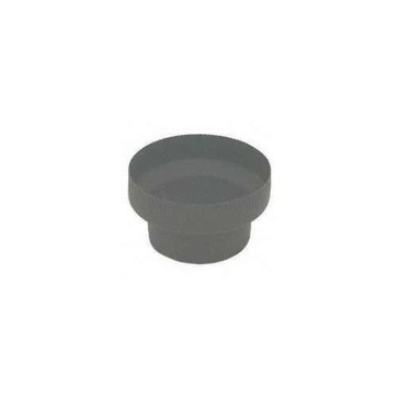 "Gray Metal 8"" to 6"" 24ga Black Stovepipe Adapter 8x6-611"